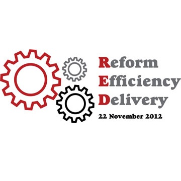 Chairing the Reform Efficiency Delivery conference for public service leaders